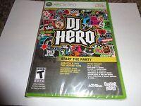 DJ Hero  (Xbox 360, 2009) (Game Only) NEW