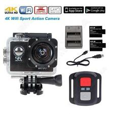 """16MP 4K FHD 1080P 2""""WIFI Sports Action Camera Video DVR+Remote+Battery+Charger"""