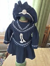 """VINTAGE FRENCH STYLE OUTFIT SUIT 16""""/40 CMS  DOLL With Antique Socks/SHOES."""