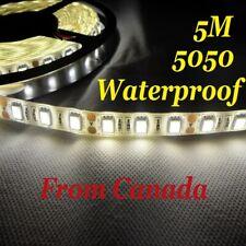 5M Neutral White 4500K 5050 SMD 300 LED Strip light flexible WATERPROOF 12V