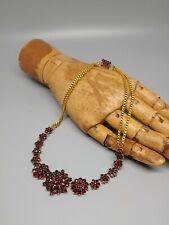 Antique Garnet Bohemian Necklace