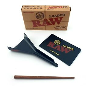RAW Cone Loader King Size Paper Cone Filler With Wooden Poker Scratch Card