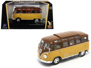 1962 VOLKSWAGEN MICROBUS VAN BUS BROWN 1/43 DIECAST BY ROAD SIGNATURE 43209