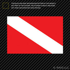 Dive Flag Sticker Die Cut Decal Self Adhesive Vinyl scuba diving #2