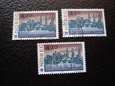 NORVEGE - timbre yvert et tellier n° 1054 x3 obl (A04) stamp norway (A)
