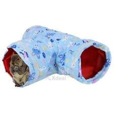 Small Animal Tunnel 3 Way Rabbit Ferret Hamster Hedgehog Play Toy Bed Nest House