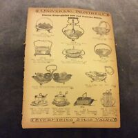 Antique Catalogue Page - Butter Dishes, Jam & Preserves Dishes