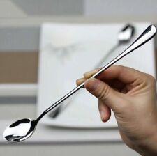 10 PCS Long Spoon Stainless Steel Tea Coffee Spoons Ice Cream Cutlery Tableware