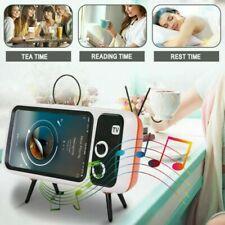 Retro TV Shaped Bluetooth Speaker Mobile Phone Holder Portable **UK FAST POST**