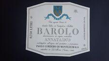 ETICHETTA VINO ANNATA 1979 - PAOLO CORDERO DI MONTEZEMOLO -  LA MORRA