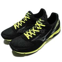 Mizuno Wave Emperor Black Green Mens Running Shoes Sneakers J1GA16-7689