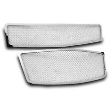 2009-2011 CHEVY AVEO5 HATCHBACK STAINLESS STEEL UPPER+BUMPER MESH GRILLE CHROME