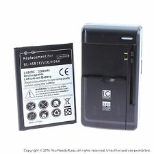 Replacement Battery for LG V10 H900 H901 VS990 plus charger