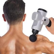 HOMCOM Handheld Massage Gun Muscle Deep Relief Massager w/ 6 Heads 20 Intensity