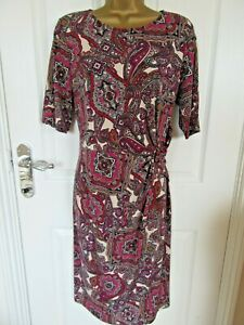 """M&S (CLASSIC) Size UK12-14 unlined Dress with side gathered with buckleBUST 38"""""""