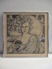 David Palladini (1946-2019) Fine Art Etching Print Beauty Shop Gallery Framed!