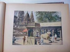 Inde : Gravure 19° in folio couleur / Benarès. Le Gayan Bari