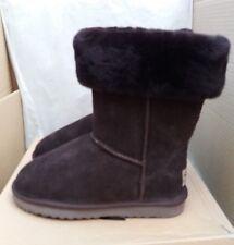 Snow Paw 5826COFL Suede & Sheepskin Winter Collar Boots -Coffee -Size UK 5 EU 38