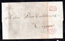 France 1847 Postage Paid entire from Bordeaux to Cognac WS12043