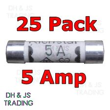 25x 5a Domestic Fuses Plug Top Household Mains 5amp Cartridge Fuse