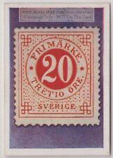 1930s Trade Ad Card - 1872 Sweden 20 Ore Error Postage Stamp