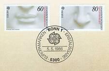 BRD 1986: Michelangelo! Europamarken Nr 1278 + 1279 mit Bonner Stempel! 1A 1712