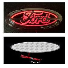 Rosso 5 D Emblema LED POSTERIORE BADGE 14.5cm x 6.5cm LUCE LOGO FORD UNIVERSALI