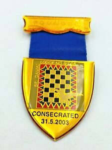 RARE SRI DAMAI (SRI LANKA) LODGE 6768 FOUNDER MASONIC MEDAL COMPLETE WITH RIBBON