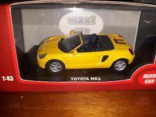 Maxi Car 1/43 Toyota MR2 yellow