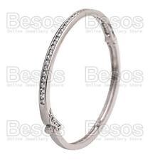 CUBIC ZIRCONIA bangle BRACELET rhodium silver polished ELEGANT CZ crystal GIFT