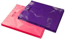100 12x15 Glossy Pink and Purple Plastic Merchandise Bags w/Handles
