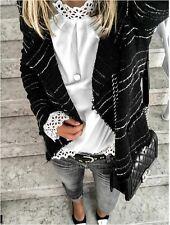 Isabel Marant -- Veste noir et blanc à rayure Taille 38   Etat neuf
