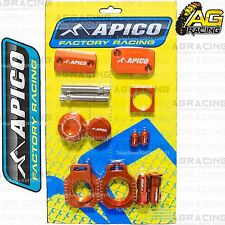 Apico Bling Pack Orange Blocks Caps Plugs Nuts Clamp Covers For KTM XC 150 2014