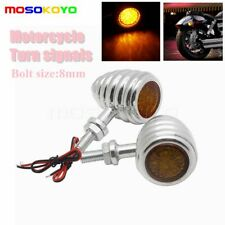 Pair Motorcycle Turn Signals Blinker Indicator Light For Harley Choppers Custom (Fits: Bourget's Bike Works)