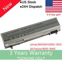New Battery For Dell Latitude E6400 E6410 E6500 E6510 PT434 W1193 4M529 Laptop