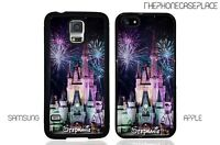 Disney Castle Night Fireworks Phone Case for Apple or Samsung Phone Case Cover