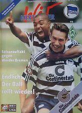 Programm 1998/99 Hertha BSC Berlin - Werder Bremen