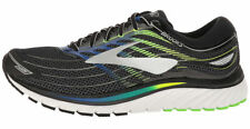 Men's Brooks Glycerin 15 Running Training Shoes Black/Electric Blue/Green Gecko