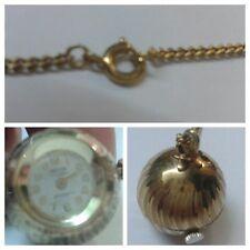 MORTIMA 17 GIOIELLI PLACCATO ORO ANTIMAGNETIC orologio con catenella Orologio
