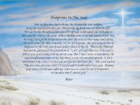 Footprints in the Sand.. Sentimental Matted Print Gift 11 x 14 1102