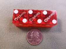 "#23 of 30, Lot Of 3 Game Used Casino Dice, All For The ""Orleans"" Red, White Dots"