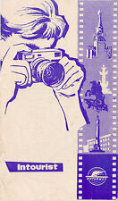 1960 RUSSIA USSR Russian Intourist travel Rules Photographing Filming Censorship