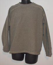Alf by Kuhl Mens Sz lg Grey Heather Crewneck Fleece Pullover Sweater EUC