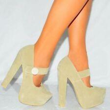 Block Heel Suede Strappy Heels for Women