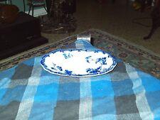 """Antique LONSDALE Royal Semi Porcelain/Flow Blue Grape Vines BREAD PLATE 8.5"""" VG"""