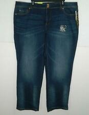 INC Women's Plus Straight Leg Slim Tech Fit Crop Jeans NWT Size 22W X 29 A2
