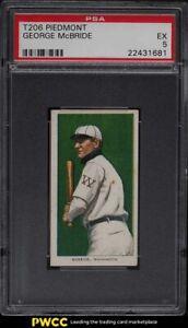 1909-11 T206 George McBride PSA 5 EX