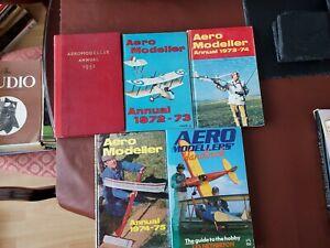 5 Vintage Aero Modeller Annuals in very good condition.