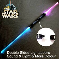 NEW (2 pieces/lot) Star Wars Lightsaber Double Bladed Laser Halloween Gift Toy