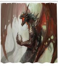 Shower Curtain Dragon Mythological Legendary Medieval Decor 70 Inches Long